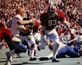 "Marty Lyons Rushing Color w/"" Roll Tide"" Insc Photo"