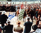 Gary Stevens Winners Circle Bed Of Roses 1 Autographed Photo (Hand Signed Collectable) Photo