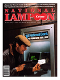 National Lampoon, May 1982 - Crime: Robbing The ATM Poster