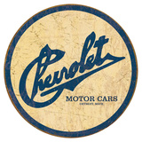 Chevy Historic Logo Cartel de metal