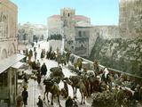 Jerusalem: Bazaar, C1900 Photographic Print