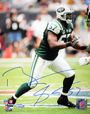Bart Scott Jets Green Jersey Autographed Photo (Hand Signed Collectable) Photo