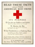 Red Cross Poster, 1917 Giclee Print