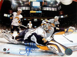 Ryan Miller Goal Cam Glove Save vs Devils Autographed Photo (Hand Signed Collectable) Photo