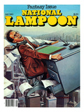 National Lampoon, January 1980 - Fantasy Issue, Desk Flying Poster