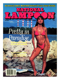 National Lampoon, April 1990 - Pretty in Paradise Stampe