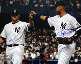 Joba Chamberlain / Derek Jeter Dual Signed Fist Pound (MLB Auth) Photo