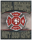 Real Heroes - Firemen Tin Sign