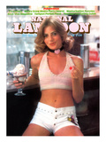 National Lampoon, October 1974 - Pubescence, Girl with Sundae and Cherry and Little White Shorts Art
