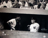 Ken Regan Signed Yogi Berra w/ Elston Howard in Dugout B&amp;W Photo