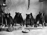 Hopi Grinding Grain, C1906 Photographic Print by Edward S. Curtis