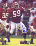 Antoine Caldwell Alabama Pointing At The Line Autographed Photo (Hand Signed Collectable) Photo