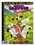 National Lampoon, October 1987 - Back to School Issue, Frogs Dissect Student Prints