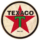 Texaco '36 Round Plakietka emaliowana