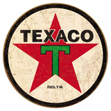 Texaco &#39;36 Round Tin Sign