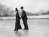 Ice Skaters Photographic Print