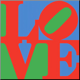 Classic Sky Love Mounted Print by Robert Indiana