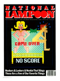 National Lampoon, November 1983  - Game Over No Score Prints