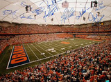 Syracuse Football Greats 10 signature LE/44 Autographed Photo (Hand Signed Collectable) Photographie