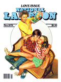 National Lampoon, November 1979 - Love Issue, Mom Catches Kids Getting Fresh on the Couch Print