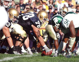 John Sullivan Over Center vs. Michigan State Autographed Photo (Hand Signed Collectable) Fotografía