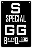 S Special Plaque en métal