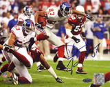 Domenik Hixon Return vs Cardinals Autographed Photo (Hand Signed Collectable) Photo