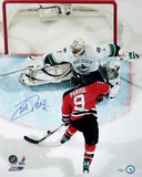 Zach Parise Overhead Shot vs Vancouver Autographed Photo (Hand Signed Collectable) Photo