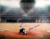 Hank Aaron Color 715th Home Run Autographed Photo (Hand Signed Collectable) Photo