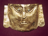 Peru: Chimu Gold Mask Photographic Print