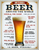 How to Order a Beer Cartel de chapa