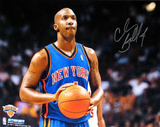 Chauncey Billups New York Knicks Ball In Hands Autographed Photo (Hand Signed Collectable) Photo