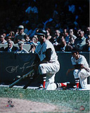"Carl Yastrzemski Kneeling w/ ""TC 67"" Signed by Photographer Ken Regan Photo"