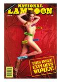 National Lampoon, March 1986 - This Issue Exploits Women! Affischer