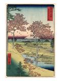 Japan: Maple Trees, 1858 Reproduction procédé giclée par Ando Hiroshige