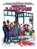 National Lampoon, June 1973 - Violence, Slipping in Blood Prints