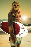 Star Wars- Chewbacca Surfs Up Kunstdrucke