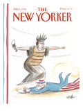 The New Yorker Cover - July 6, 1992 Premium Giclee Print by Warren Miller