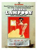 National Lampoon, April 1975 - Car Sickness, the Pin-Up Calendar Print