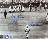Ralph Branca/Bobby Thomson with Jackie Robinson With Date Photographie