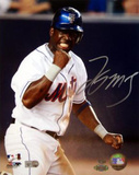 Lastings Milledge Fist Pump Signed (MLB Auth) Autographed Photo (Hand Signed Collectable) Photo
