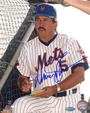 Davey Johnson Mets Pinstripe Uniform Photographie