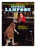 National Lampoon, January 1974 - Animals, Kangaroo at the Bar Posters