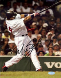 Manny Ramirez Home Swing (Signed In Black) Autographed Photo (Hand Signed Collectable) Photo