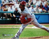 "Ervin Santana Angels Road Jersey Pitching w/"" No Hitter, 7/27/11"" Insc (MLB Auth) Photographie"