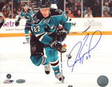 Jeremy Roenick San Jose Sharks Skating Up Ice Autographed Photo (Hand Signed Collectable) Photo