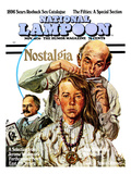 National Lampoon, November 1970 - Nostalgia, a Hippie Haircut Affiches
