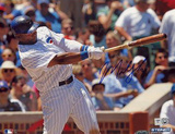 Marlon Byrd Chicago Cubs Home Jersey Swing Autographed Photo (Hand Signed Collectable) Photo