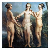 Vanloo: Three Graces Giclee Print by Carle Vanloo