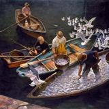 N.C. Wyeth: Fishermen Giclée-tryk af Newell Convers Wyeth